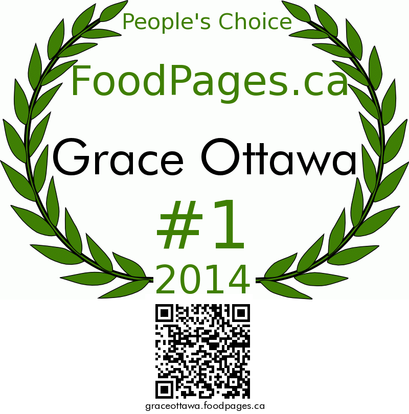 Grace Ottawa FoodPages.ca 2014 Award Winner