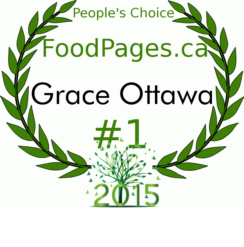 Grace Ottawa FoodPages.ca 2015 Award Winner