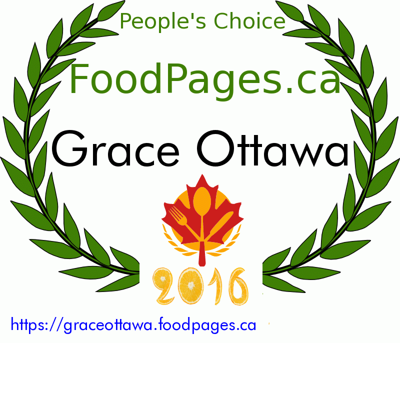 Grace Ottawa FoodPages.ca 2016 Award Winner